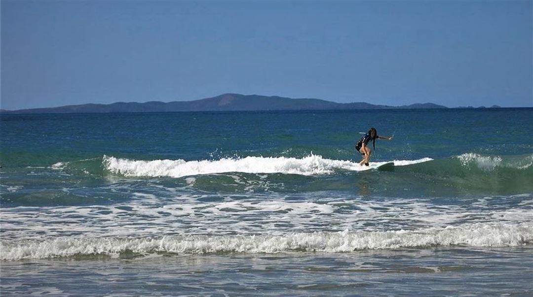 Julia pluggade på CQU Rockhampton, Australien och surfade mellan föreläsningarna