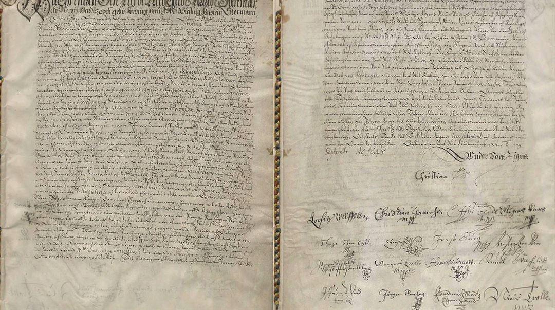 Kristian IV:s överlåtelsebrev för Gotland, Jämtland med Härjedalen samt Ösel