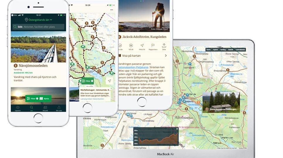 Mobil och data, Naturkartan