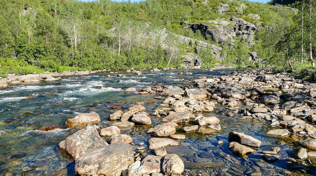 Vattendrag fjäll natur Norrland