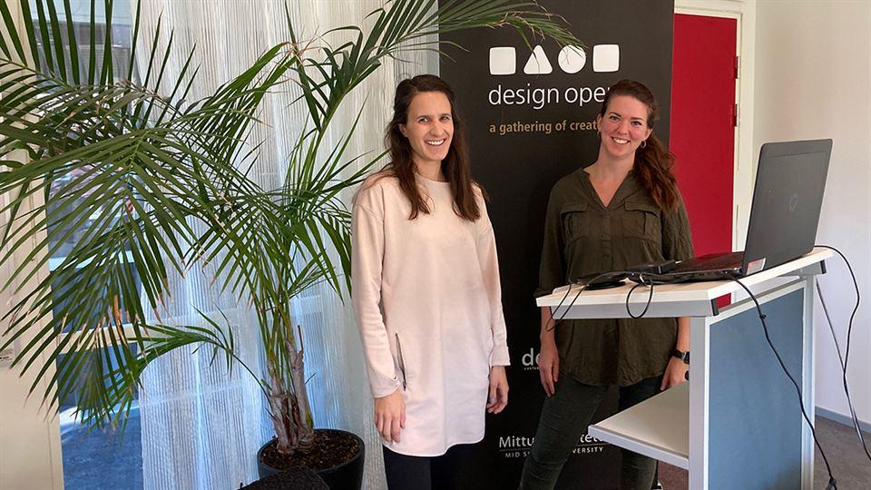 Johanna Henriksson och Amanda Dahlgren kickar igång Design Open 2020
