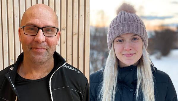 Martin Söderberg och Moa Olsson fick de första uppsatsstipendierna från Mittuniversitetets idrottsakademi