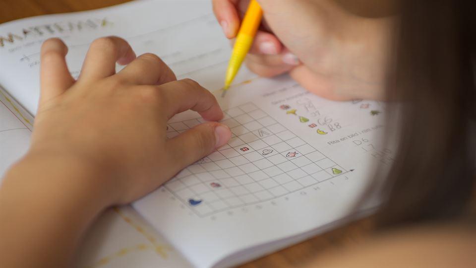 Skolarbete, läxa, matematik, skola