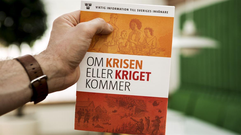 "MSB:s broschyr ""Om krisen eller kriget kommer"""
