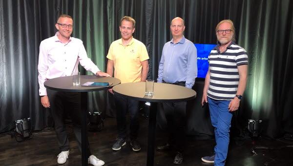 Moderator Ronney Wickzell, Prof. Mattias O'Nils, Prof. Mårten Sjöström och Docent Benny Thörnberg