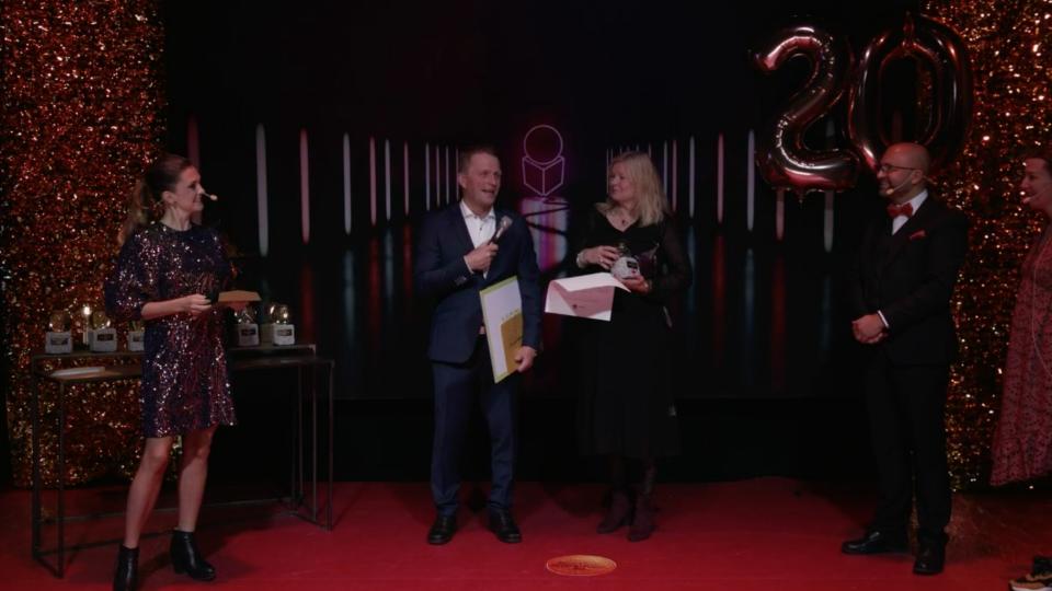Screenshot från ÖPs sändning av Guldgalan 2020