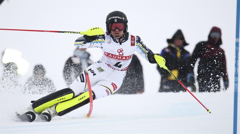 Anna swenn-Larsson, silvermedaljör i slalom vid VM i Åre 2019.