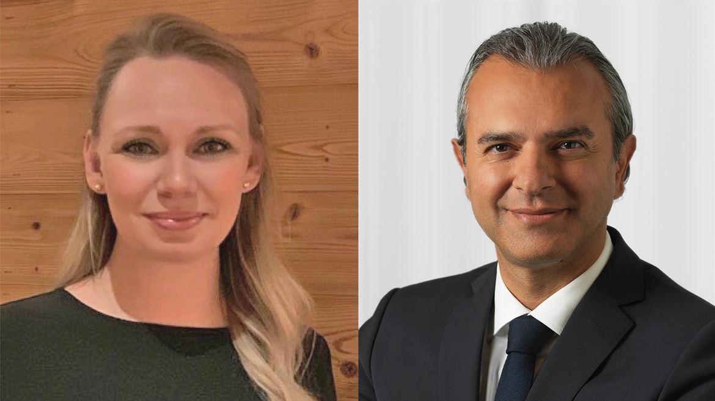 Louise Mackegård Evensen och Vahid Zohali