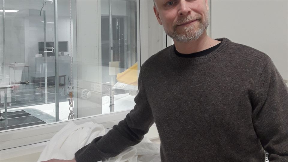 Kristian Luuk i vindtunneln