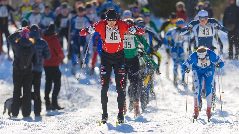 Skidåkare i Stockholm ski marathon