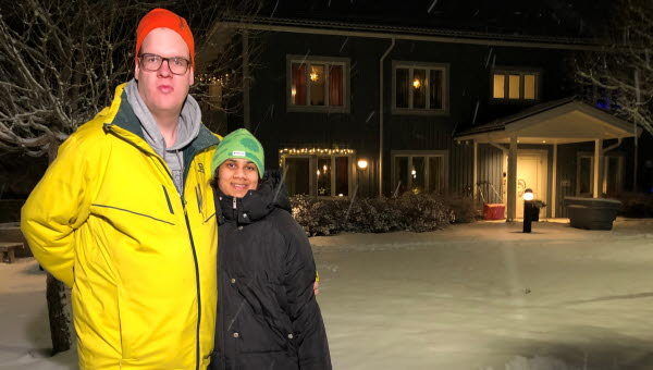 Joakim Bodin och Emma Ramsell deltar i projektet och tränar numera tre gånger i veckan. Foto: Pelle Fredriksson, Mittuniversitetet.