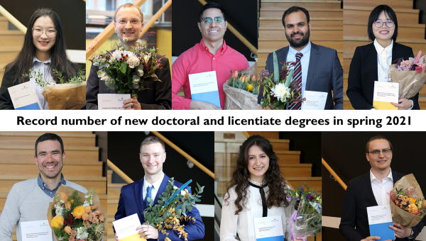 Porträttbilder på alla nya licentiater och doktorer under våren 2021