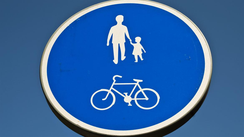 Vägskylt gång- och cykelväg