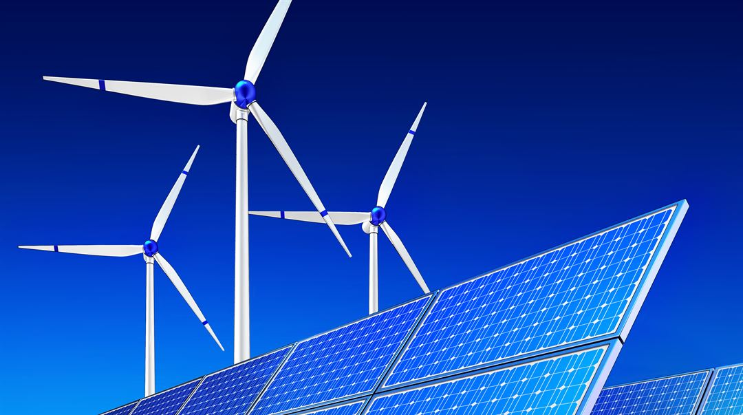 Green Energy Solar cells and wind mills