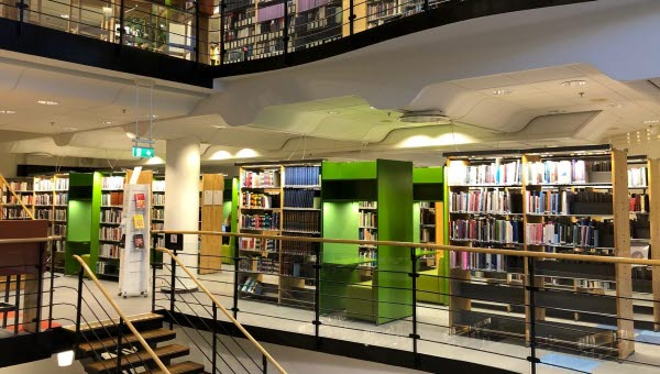 Biblioteket Sundsvall interiör