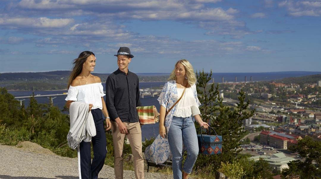 Studenter på Norra Berget
